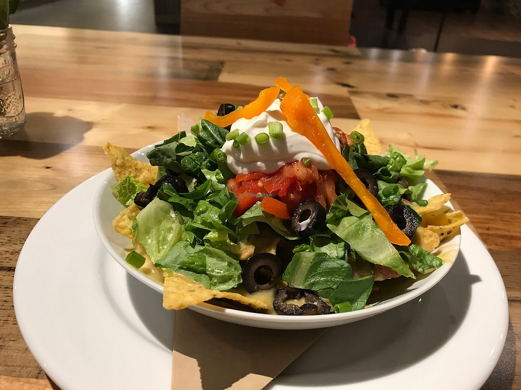 """Photo of Pulse Cafe  by <a href=""""/members/profile/nafanc"""">nafanc</a> <br/>Haystack. Bright, colorful nacho dish <br/> October 18, 2017  - <a href='/contact/abuse/image/98725/316216'>Report</a>"""
