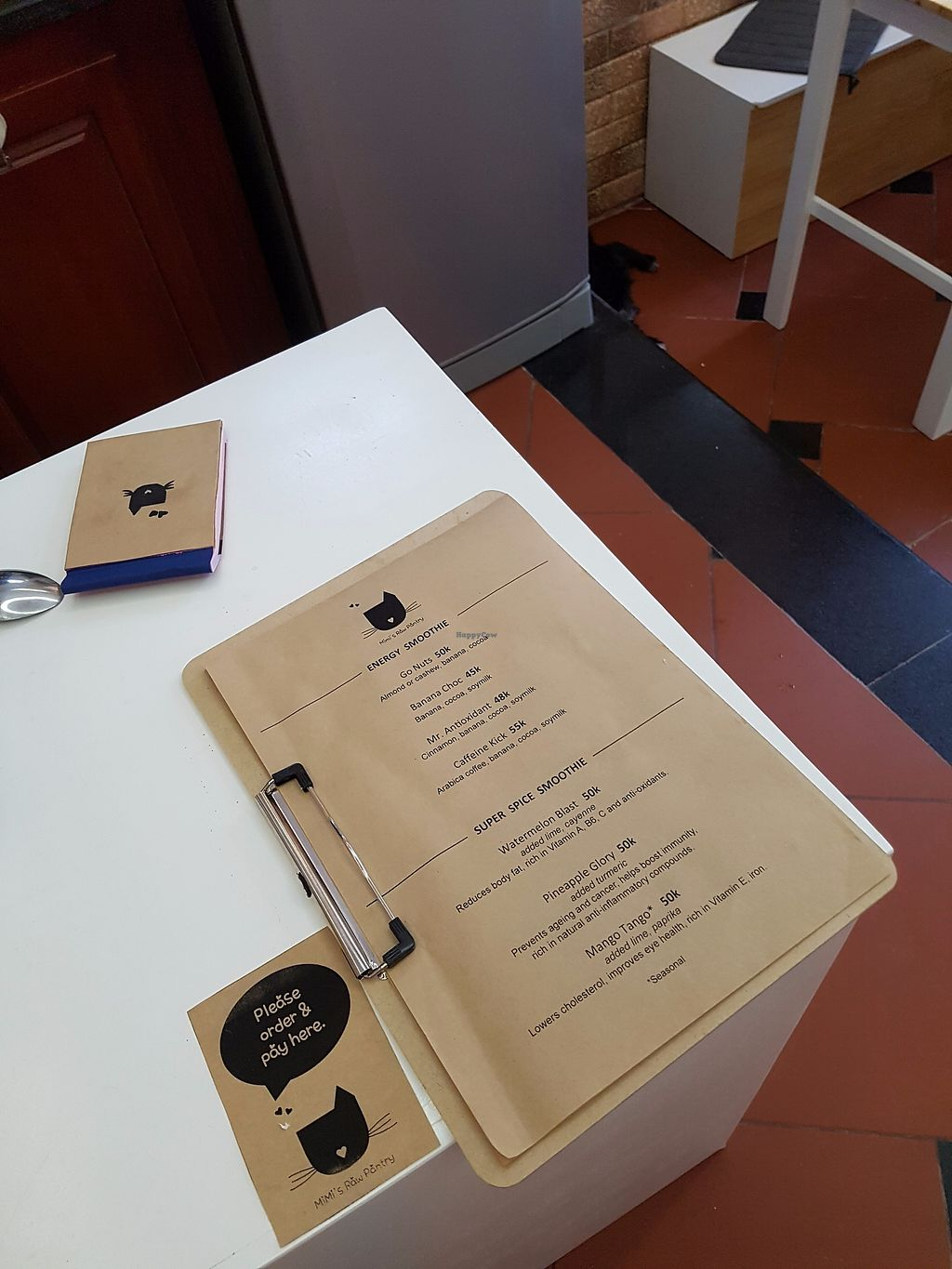 """Photo of Mimi's Raw Pantry  by <a href=""""/members/profile/KyungminYou"""">KyungminYou</a> <br/>menu <br/> September 23, 2017  - <a href='/contact/abuse/image/98727/307368'>Report</a>"""
