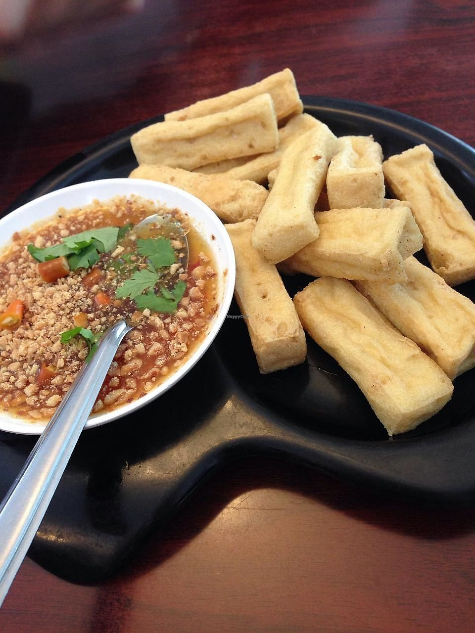 """Photo of Talalask  by <a href=""""/members/profile/Wansaree"""">Wansaree</a> <br/>Fried Organic tofu <br/> January 24, 2014  - <a href='/contact/abuse/image/9875/268596'>Report</a>"""