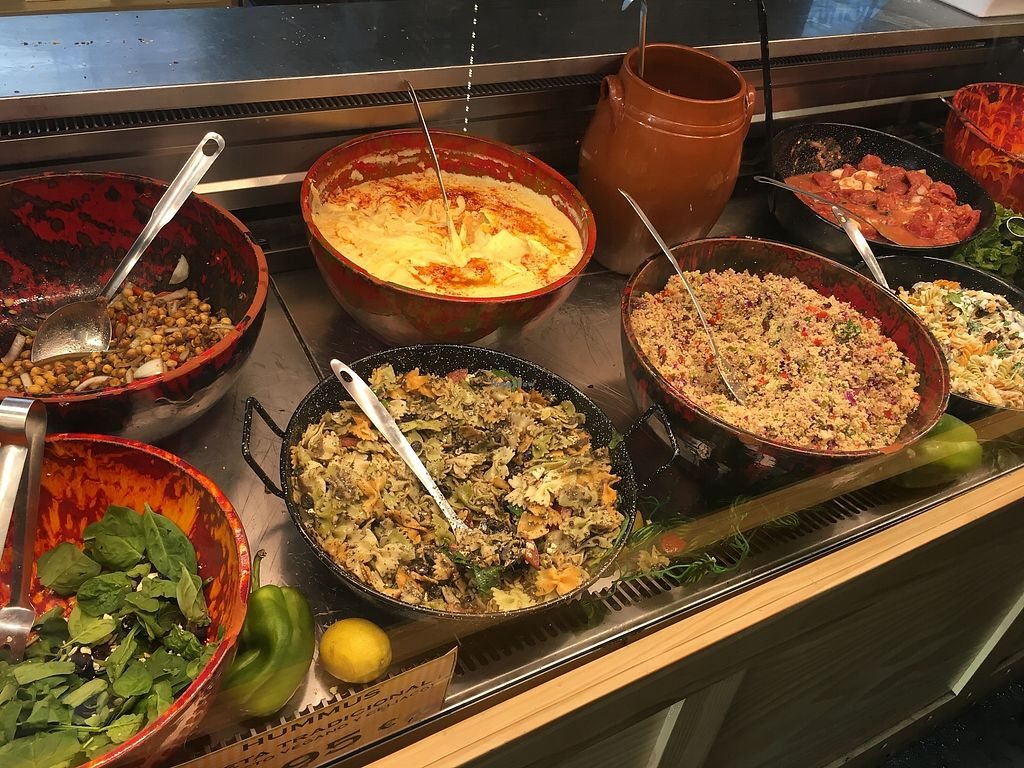 """Photo of Buenasaña  by <a href=""""/members/profile/radiocaz"""">radiocaz</a> <br/>Couscous, quinoa, chickpea salad choices <br/> August 17, 2017  - <a href='/contact/abuse/image/98841/293710'>Report</a>"""