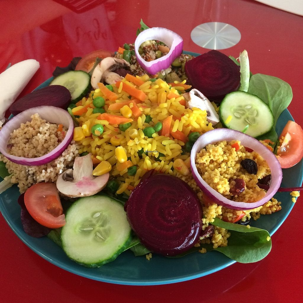 """Photo of Chapter Two Book Shop  by <a href=""""/members/profile/Hoggy"""">Hoggy</a> <br/>Golden vegetable rice salad <br/> August 23, 2017  - <a href='/contact/abuse/image/98854/296171'>Report</a>"""