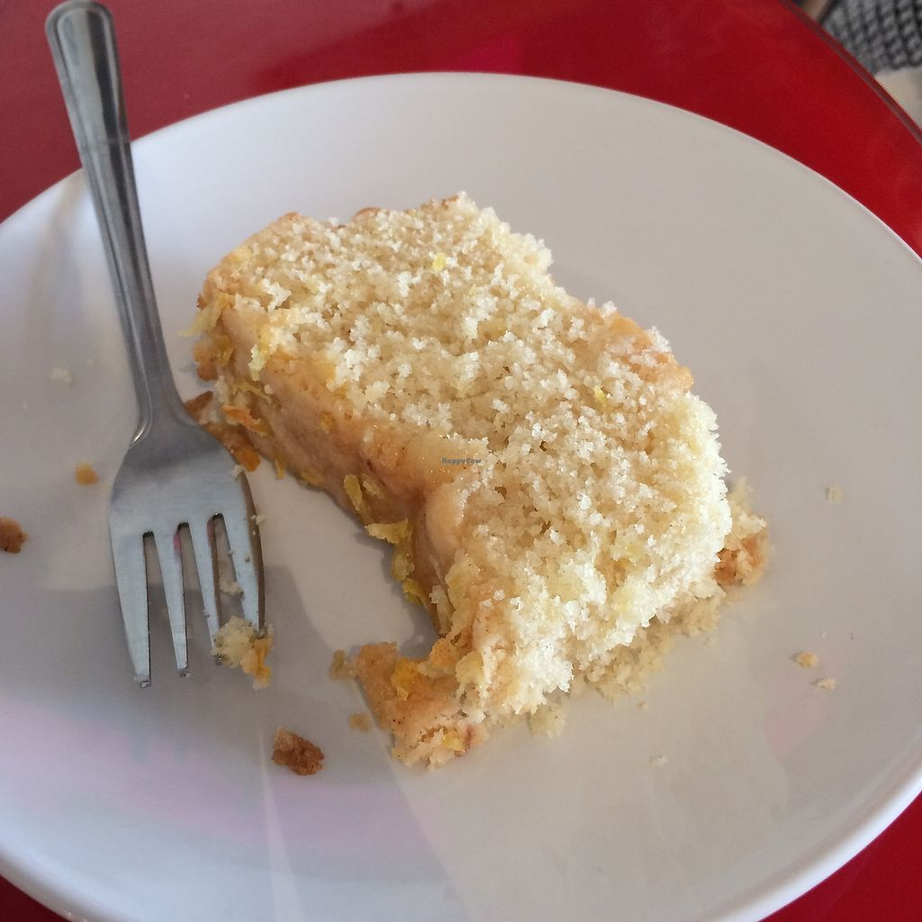 """Photo of Chapter Two Book Shop  by <a href=""""/members/profile/Hoggy"""">Hoggy</a> <br/>Vegan lemon drizzle cake <br/> August 23, 2017  - <a href='/contact/abuse/image/98854/296174'>Report</a>"""