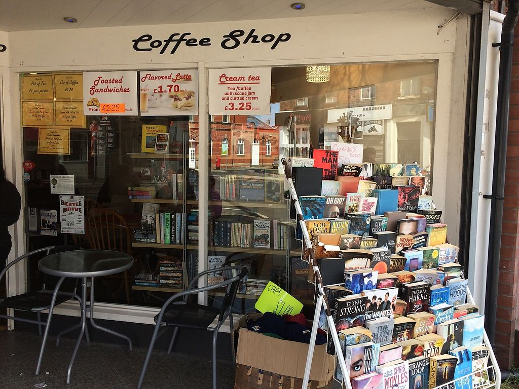 """Photo of Chapter Two Book Shop  by <a href=""""/members/profile/Hoggy"""">Hoggy</a> <br/>Outside Chapter Two Book Shop and Cafe <br/> August 23, 2017  - <a href='/contact/abuse/image/98854/296177'>Report</a>"""