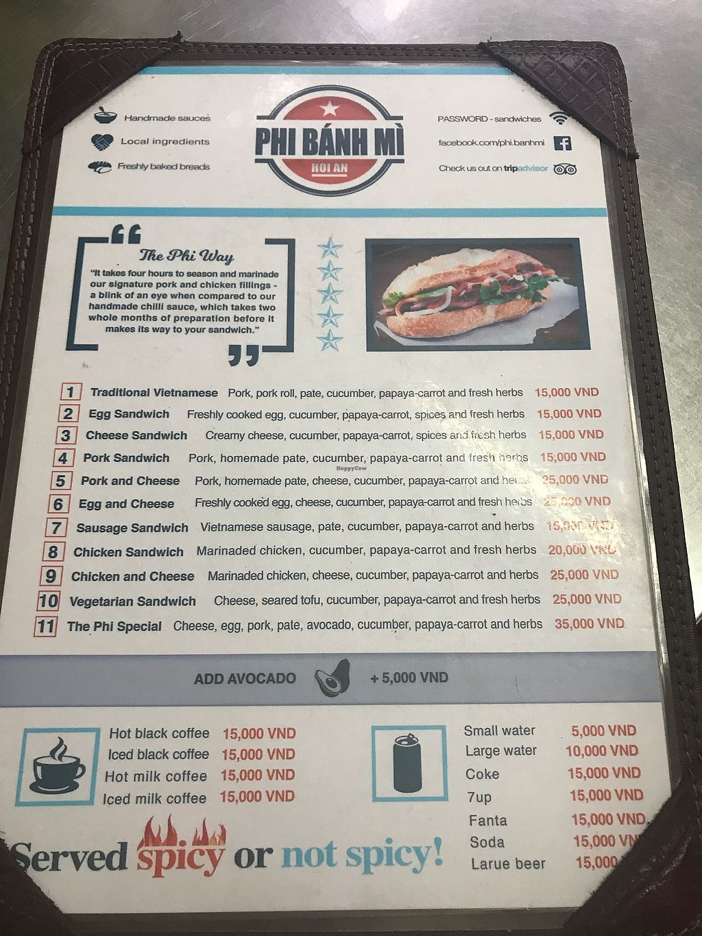 """Photo of Phi Banh Mi  by <a href=""""/members/profile/AnnaLevshin"""">AnnaLevshin</a> <br/>Menu <br/> April 15, 2018  - <a href='/contact/abuse/image/98895/386168'>Report</a>"""