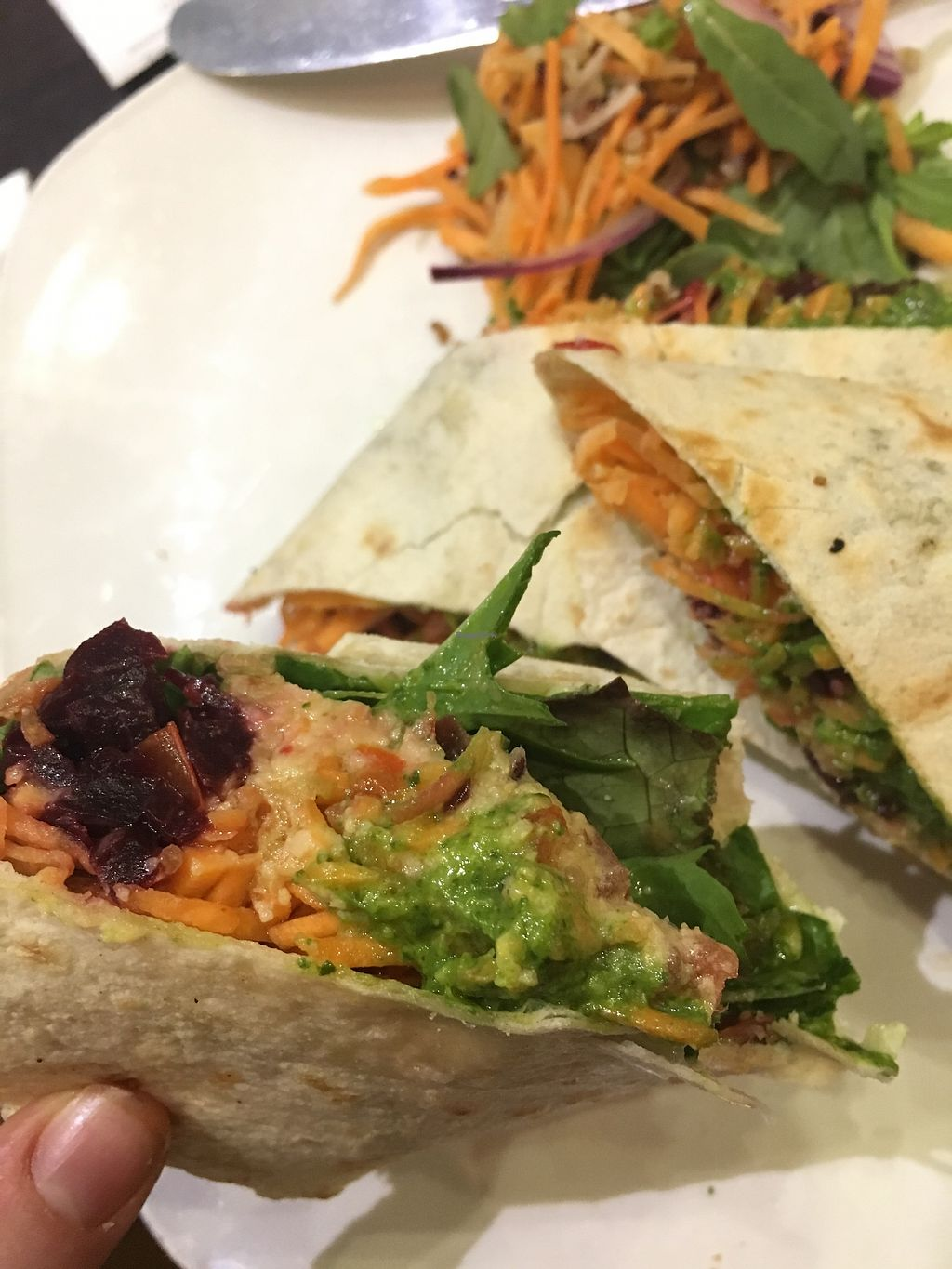"""Photo of Pascal Coffee House - Edward Square  by <a href=""""/members/profile/AvrilTkd"""">AvrilTkd</a> <br/>Vegan wrap <br/> August 18, 2017  - <a href='/contact/abuse/image/98900/294089'>Report</a>"""