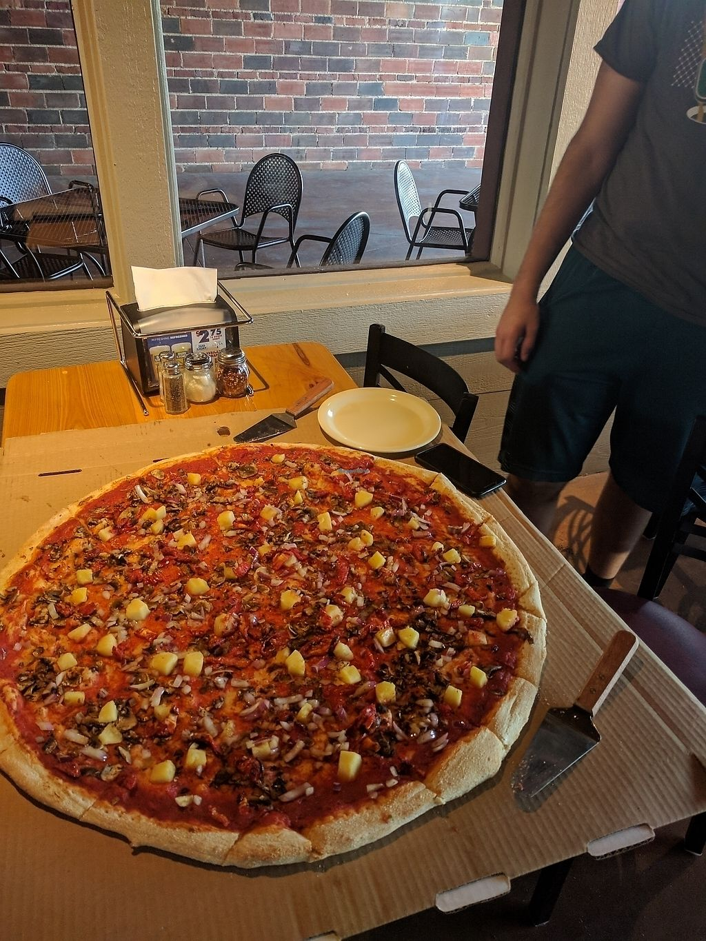 """Photo of Merrell's Pizza  by <a href=""""/members/profile/Anirak"""">Anirak</a> <br/>28"""" veggie pizza <br/> August 21, 2017  - <a href='/contact/abuse/image/98957/295125'>Report</a>"""