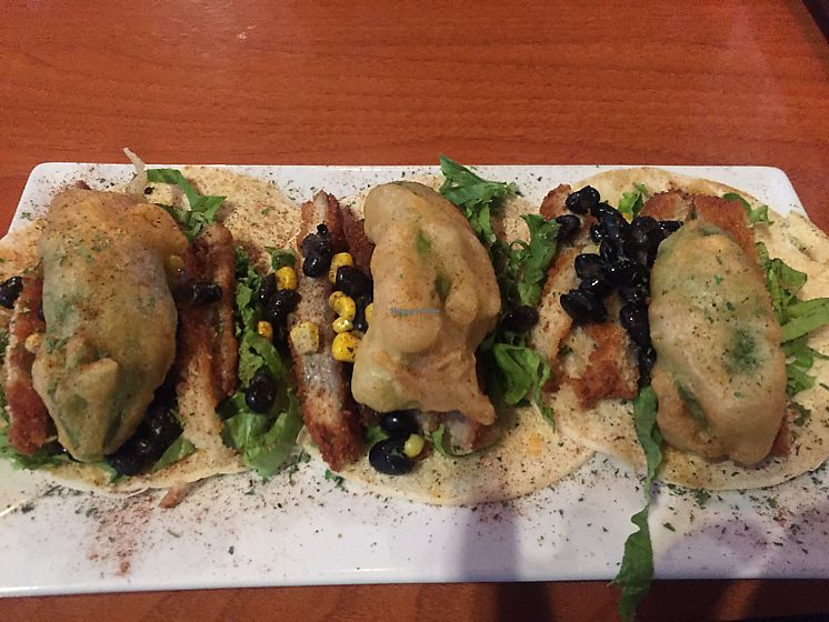 """Photo of The Whiskey Barrel  by <a href=""""/members/profile/corbett"""">corbett</a> <br/>fried vegan chicken and fried avocado tacos  <br/> August 27, 2017  - <a href='/contact/abuse/image/98965/297961'>Report</a>"""