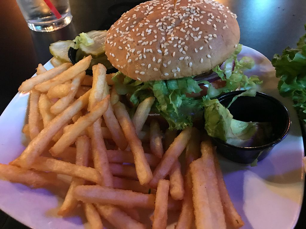 """Photo of The Whiskey Barrel  by <a href=""""/members/profile/CorvairForum"""">CorvairForum</a> <br/>Vegan Hawaiian burger. This was excellent.  <br/> October 25, 2017  - <a href='/contact/abuse/image/98965/318832'>Report</a>"""