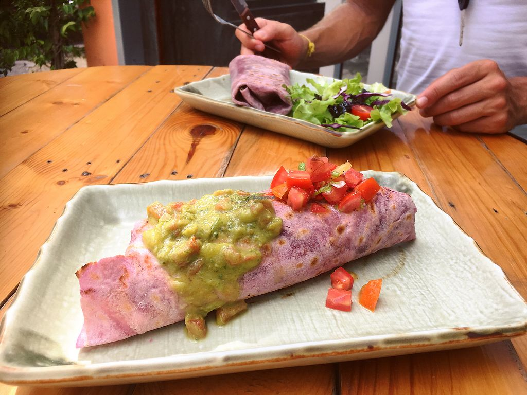 """Photo of Big Bite Home Style Veggie Cafe  by <a href=""""/members/profile/IlonaGoossens"""">IlonaGoossens</a> <br/>Breakfast burrito and burrito with sweet potato and pumpkin  <br/> February 25, 2018  - <a href='/contact/abuse/image/99055/363483'>Report</a>"""