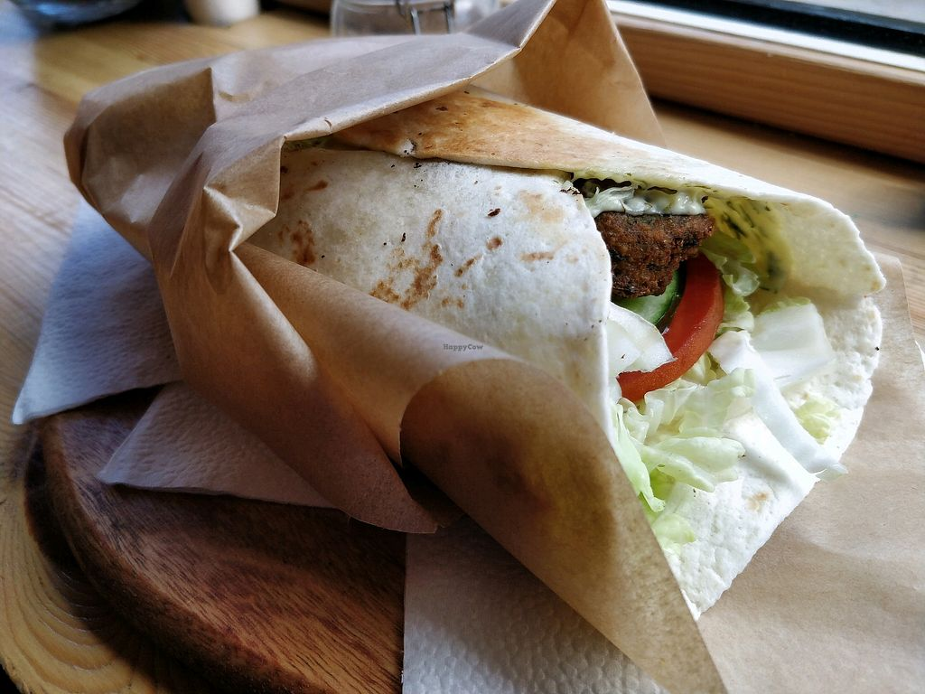 "Photo of Green Life Cafe  by <a href=""/members/profile/JimmySeah"">JimmySeah</a> <br/>falafel wrap <br/> May 10, 2018  - <a href='/contact/abuse/image/99099/397691'>Report</a>"