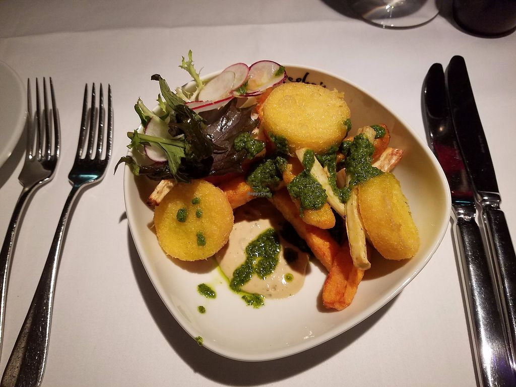"Photo of Peploe's Wine Bistro  by <a href=""/members/profile/Katyathevegan"">Katyathevegan</a> <br/>Appetizer- vegan- Roasted vegetables with pesto <br/> September 1, 2017  - <a href='/contact/abuse/image/99114/299552'>Report</a>"