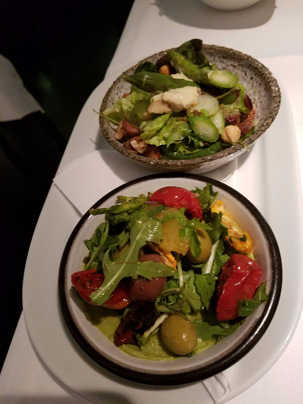"Photo of Peploe's Wine Bistro  by <a href=""/members/profile/Katyathevegan"">Katyathevegan</a> <br/>Sides that came with entree- vegan- salads <br/> September 1, 2017  - <a href='/contact/abuse/image/99114/299556'>Report</a>"