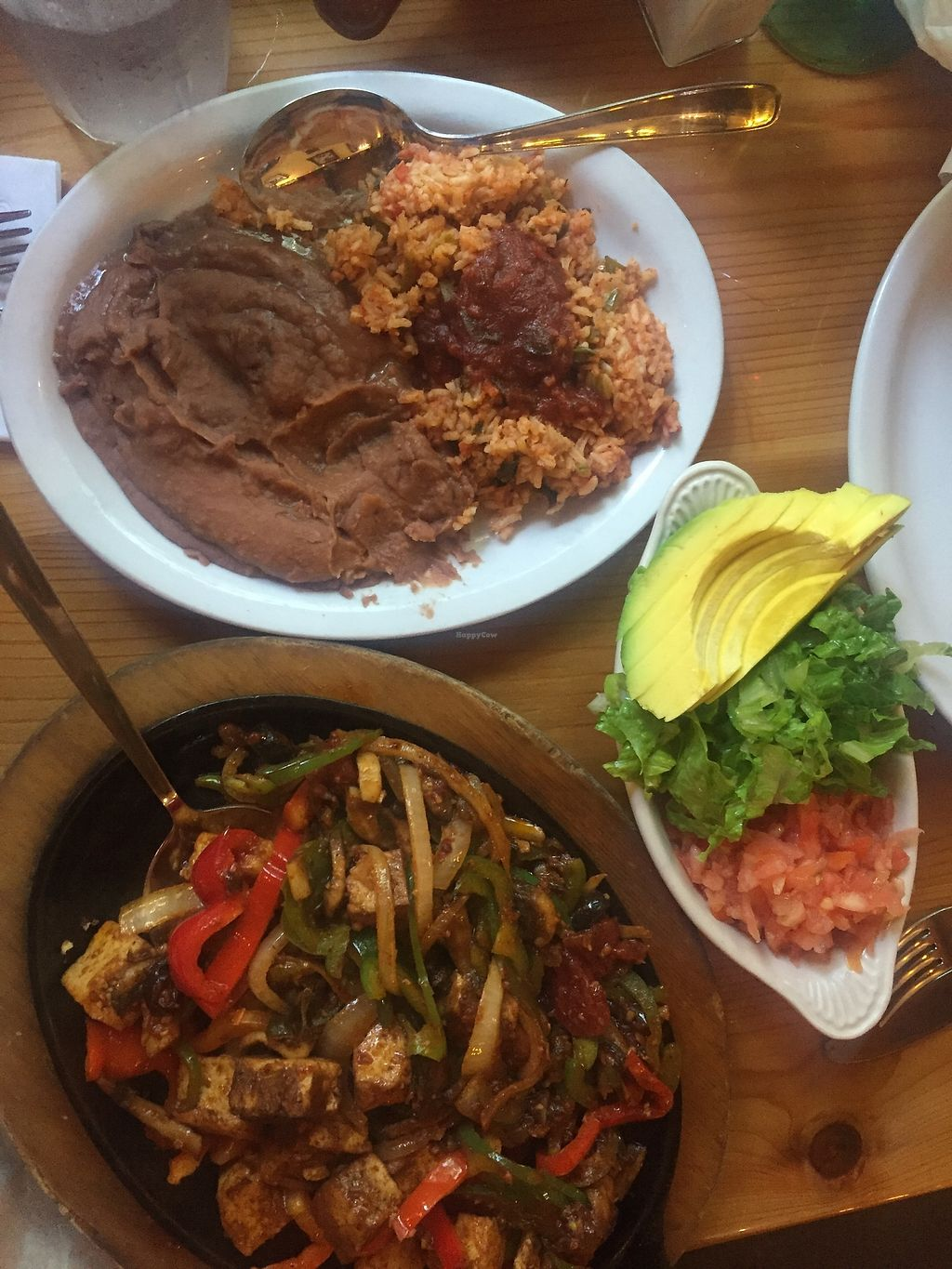 "Photo of Polli's  by <a href=""/members/profile/keithnorm"">keithnorm</a> <br/>Tofu fajitas with refried beans, lettuce, avocado, tomato <br/> August 21, 2017  - <a href='/contact/abuse/image/99153/295319'>Report</a>"