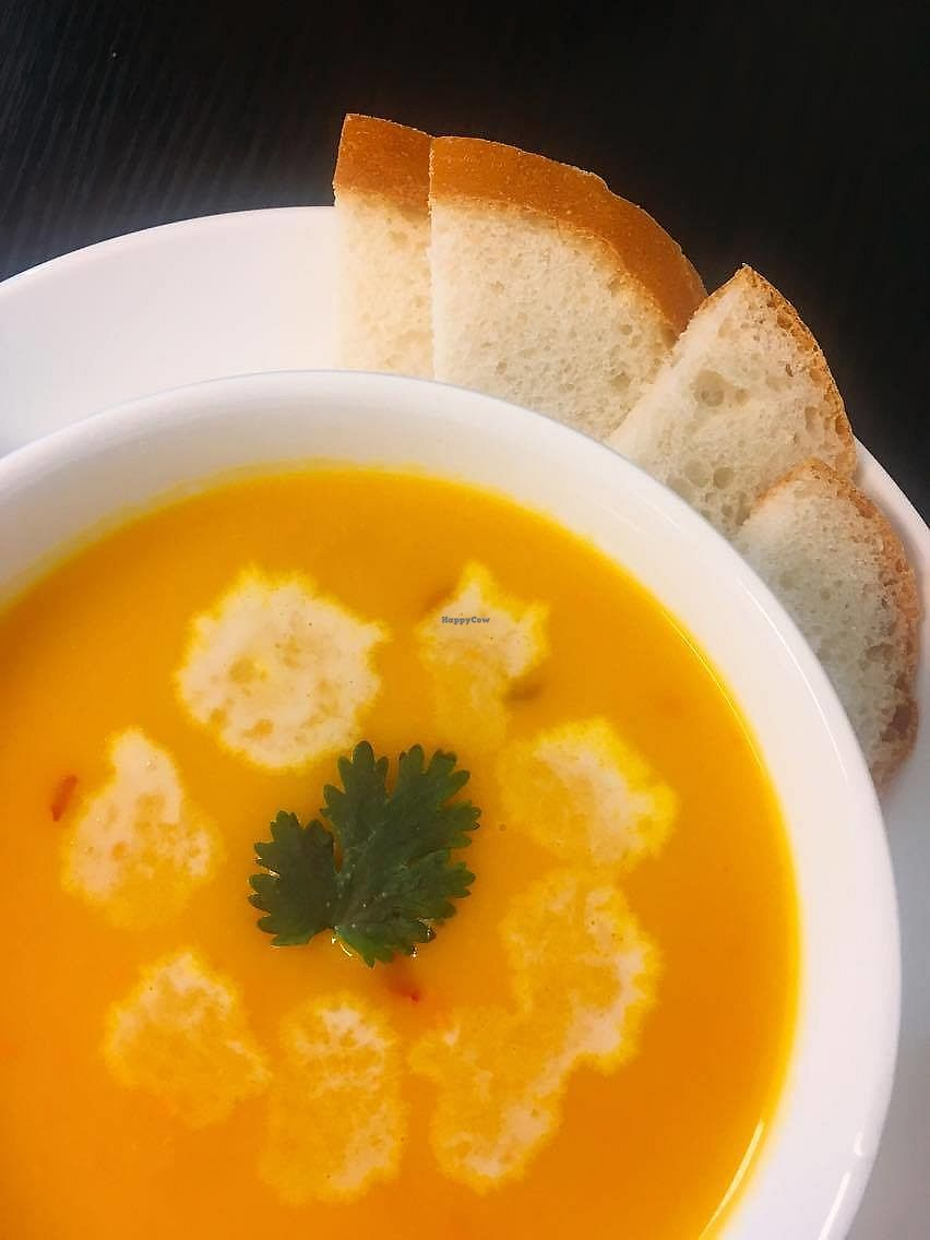 """Photo of Lotus Cafe  by <a href=""""/members/profile/BlankaC"""">BlankaC</a> <br/>Carrot-pumpin soup, really good ! <br/> August 26, 2017  - <a href='/contact/abuse/image/99174/297306'>Report</a>"""