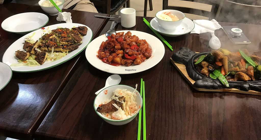 """Photo of Top Choice Vegetarian Restaurant  by <a href=""""/members/profile/MandyLy"""">MandyLy</a> <br/>Vegetarian Sweet sour pork,  Mushroom hotplate <br/> August 22, 2017  - <a href='/contact/abuse/image/99182/295688'>Report</a>"""
