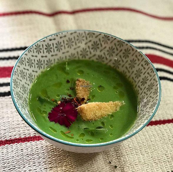 "Photo of Duke Restaurant  by <a href=""/members/profile/CeciliaMartinez"">CeciliaMartinez</a> <br/>Pea soup with crispy avocado <br/> August 21, 2017  - <a href='/contact/abuse/image/99192/295183'>Report</a>"
