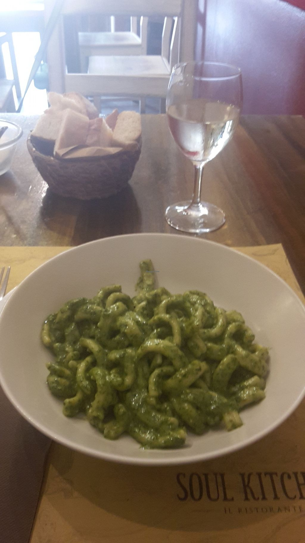 """Photo of Soul Kitchen  by <a href=""""/members/profile/LaurenceFWI"""">LaurenceFWI</a> <br/>A delicious pesto pasta plate! <br/> August 30, 2017  - <a href='/contact/abuse/image/99221/299222'>Report</a>"""