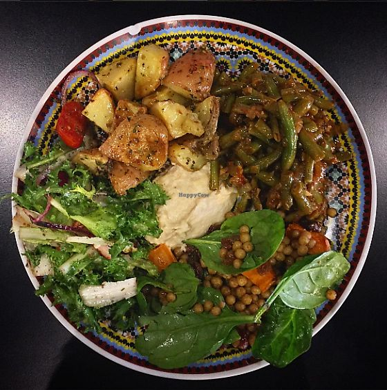 """Photo of The Black Groodle  by <a href=""""/members/profile/veganbyeden"""">veganbyeden</a> <br/>The veggie plate  <br/> August 22, 2017  - <a href='/contact/abuse/image/99264/295484'>Report</a>"""