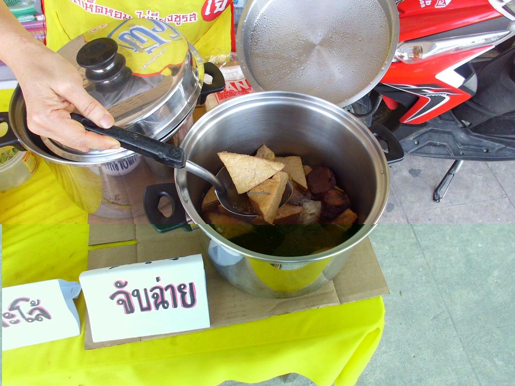"""Photo of Vegan Food Stall  by <a href=""""/members/profile/Maros"""">Maros</a> <br/>A food offer <br/> August 25, 2017  - <a href='/contact/abuse/image/99275/297095'>Report</a>"""