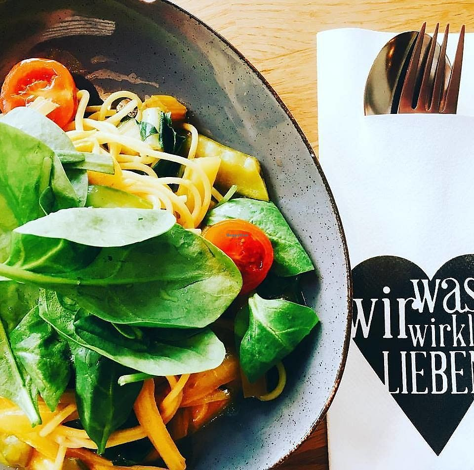 """Photo of was wir wirklich LIEBEN - Hegestraße  by <a href=""""/members/profile/community5"""">community5</a> <br/>Spaghetti with curry-coconut sauce, pea and chard <br/> August 27, 2017  - <a href='/contact/abuse/image/99280/297986'>Report</a>"""