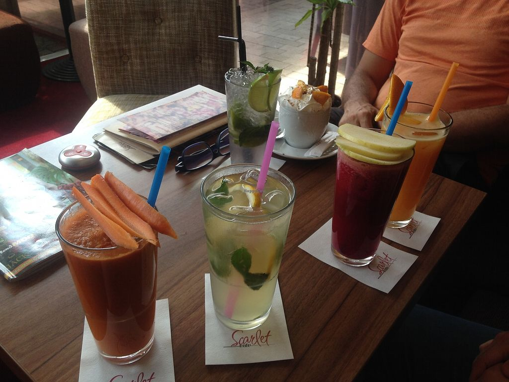 "Photo of Scarlet Cafe  by <a href=""/members/profile/aliceofthelight"">aliceofthelight</a> <br/>juices and smoothies <br/> September 6, 2017  - <a href='/contact/abuse/image/99380/301433'>Report</a>"