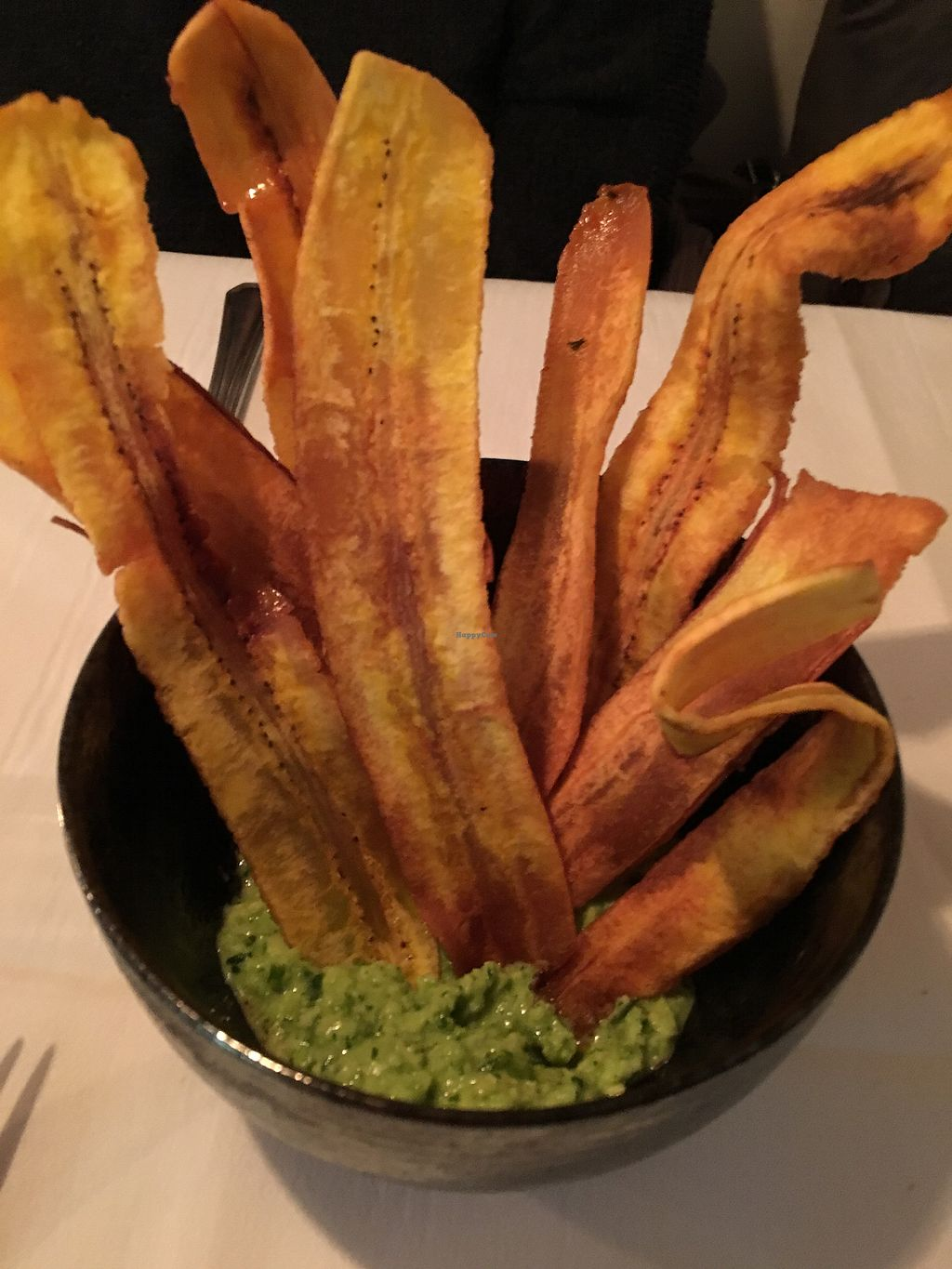 """Photo of Three Chef's Bistro  by <a href=""""/members/profile/ralphsnowman"""">ralphsnowman</a> <br/>Plantain chips <br/> February 18, 2018  - <a href='/contact/abuse/image/99472/360630'>Report</a>"""