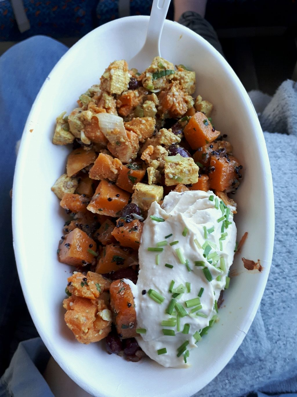 "Photo of Vegg Go  by <a href=""/members/profile/laty"">laty</a> <br/>Sweet potato, pumpkin, hummus, mustard tofu, rice <br/> April 11, 2018  - <a href='/contact/abuse/image/99491/383809'>Report</a>"