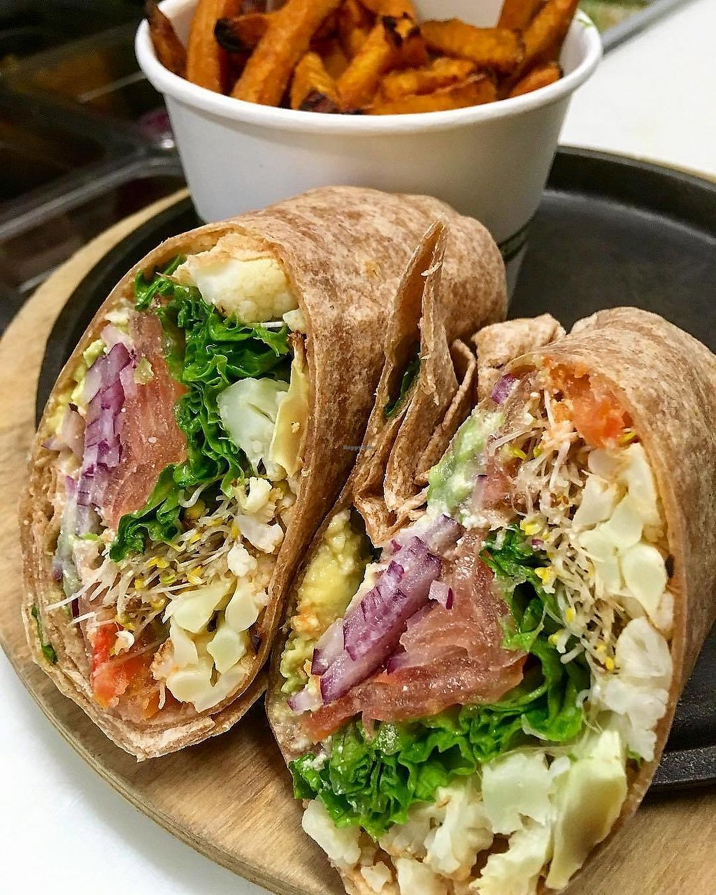 "Photo of Ocean Organics  by <a href=""/members/profile/ss138"">ss138</a> <br/>Buffalo Cauliflower Wrap <br/> March 17, 2018  - <a href='/contact/abuse/image/99514/371828'>Report</a>"