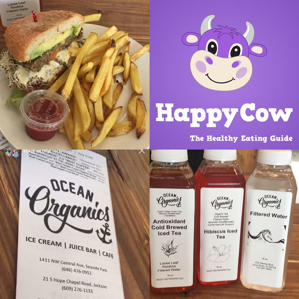 "Photo of Ocean Organics  by <a href=""/members/profile/jersey"">jersey</a> <br/>Avocado burger with cashew cheese and beam sprouts <br/> April 1, 2018  - <a href='/contact/abuse/image/99514/379196'>Report</a>"