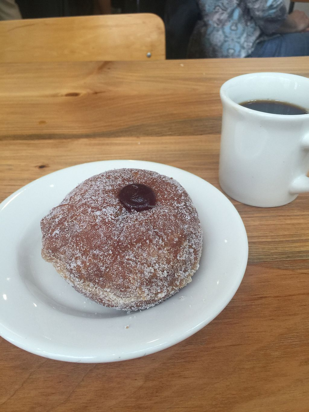 "Photo of Knead Doughnuts  by <a href=""/members/profile/andoba"">andoba</a> <br/>Vegan jelly donut  <br/> November 5, 2017  - <a href='/contact/abuse/image/99533/322224'>Report</a>"