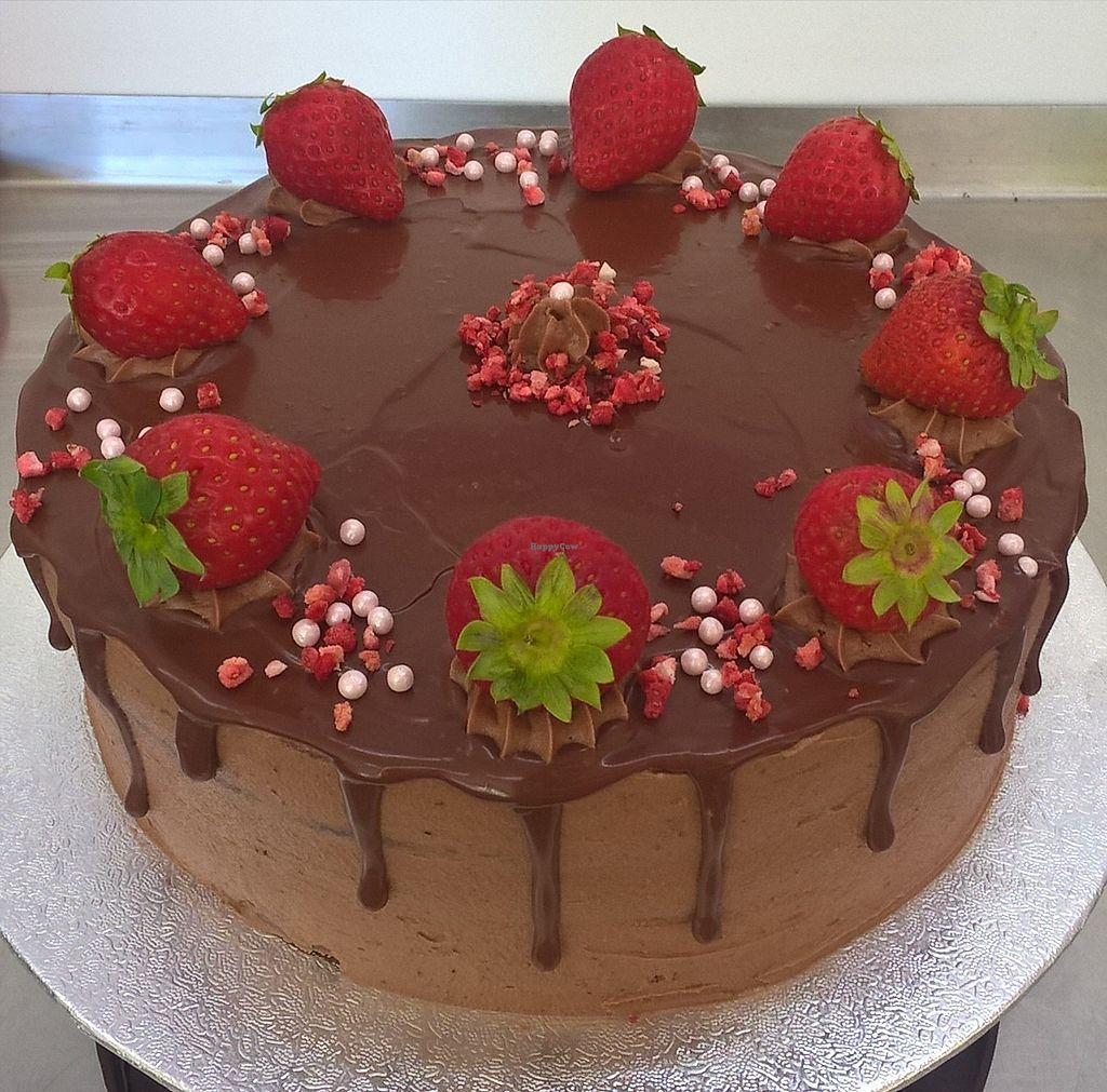 "Photo of Little Green Vegan Bakery  by <a href=""/members/profile/Greenvb"">Greenvb</a> <br/>Chocolate and strawberry cake  <br/> August 25, 2017  - <a href='/contact/abuse/image/99551/297189'>Report</a>"