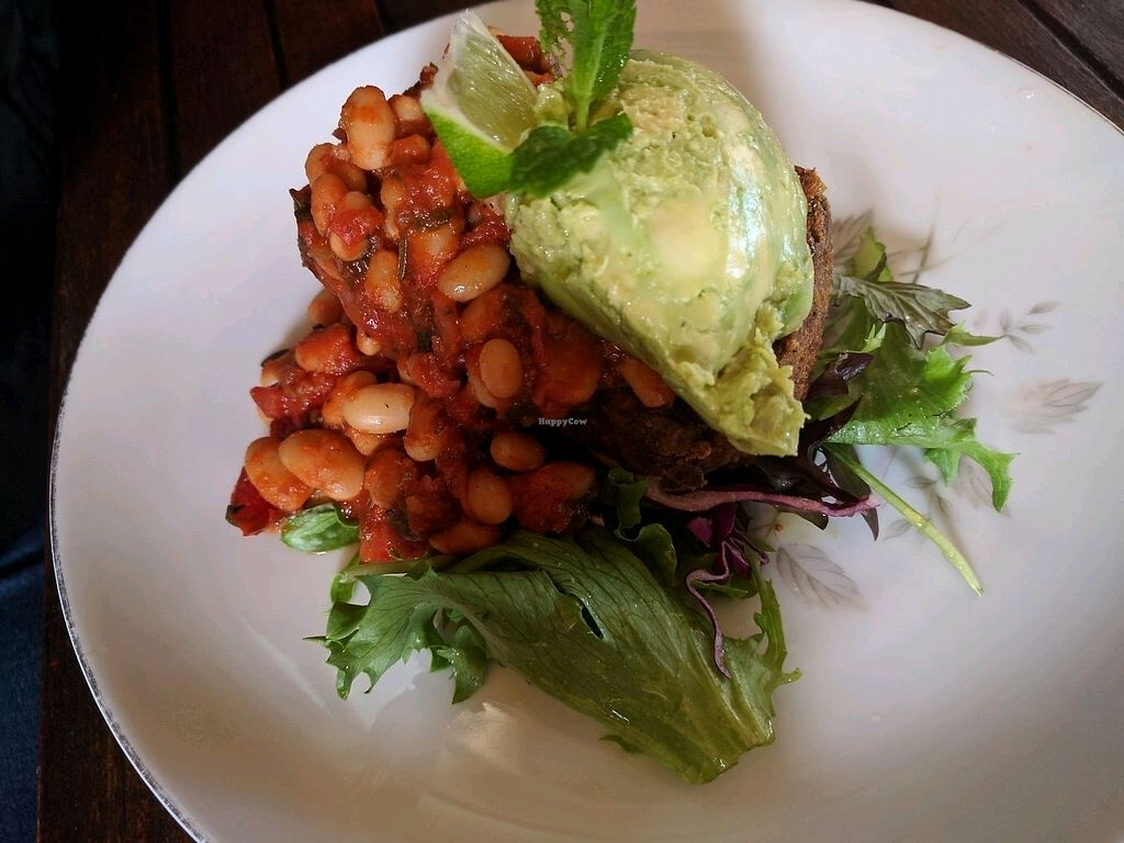 """Photo of Yum Yum Tree Cafe  by <a href=""""/members/profile/wildeyedgirl"""">wildeyedgirl</a> <br/>nutty pumpkin loaf with Mexican beans and smashed avocado  <br/> August 26, 2017  - <a href='/contact/abuse/image/99582/297255'>Report</a>"""