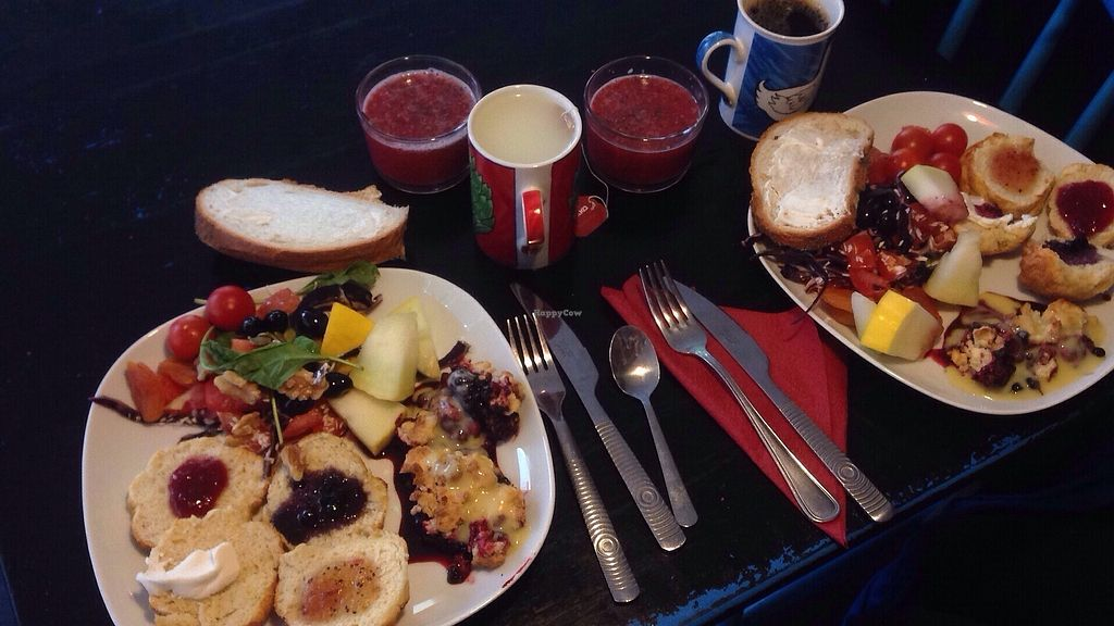 """Photo of Cafe Grannen  by <a href=""""/members/profile/haikat"""">haikat</a> <br/>Some of the vegan selection of the weekday breakfast (79 kr) <br/> October 2, 2017  - <a href='/contact/abuse/image/99611/311018'>Report</a>"""