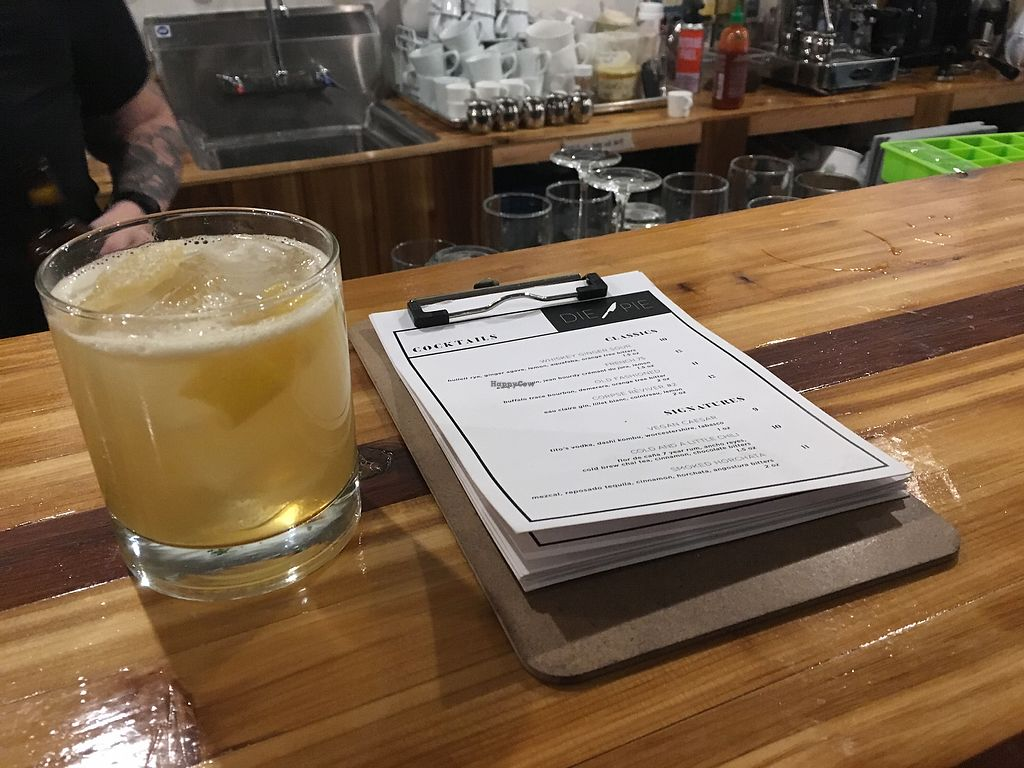 "Photo of Die Pie  by <a href=""/members/profile/MarianaJE"">MarianaJE</a> <br/>Fave drink here! Whiskey ginger sour  ?  <br/> January 13, 2018  - <a href='/contact/abuse/image/99651/346017'>Report</a>"
