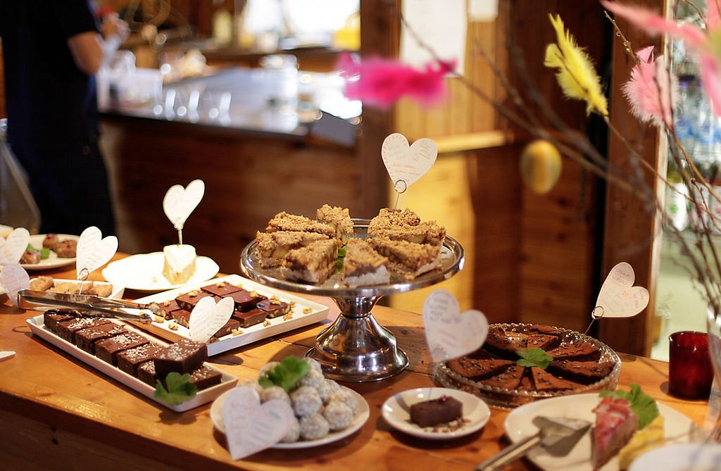 """Photo of Angsbacka Kursgard Cafe  by <a href=""""/members/profile/Kelpiebean"""">Kelpiebean</a> <br/>Variety of raw and baked vegan cakes at Easter <br/> September 5, 2017  - <a href='/contact/abuse/image/99666/301191'>Report</a>"""