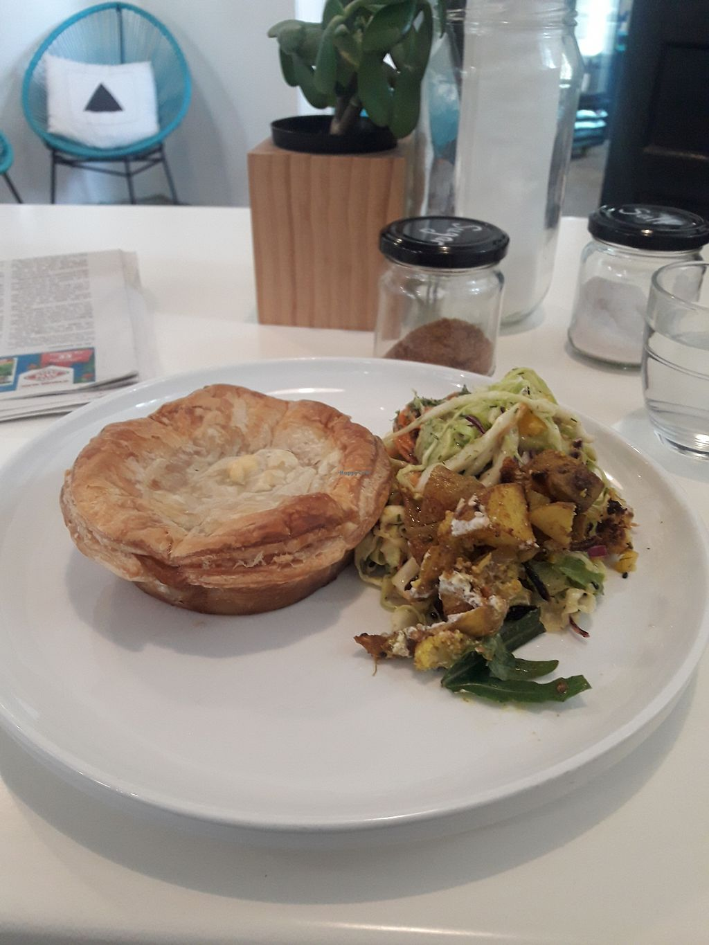 "Photo of Greenleaf Organics  by <a href=""/members/profile/TemptationCakes"">TemptationCakes</a> <br/>Vegan curried veg pie with salad their salad is very nice also not just a few leaves like most cafes! <br/> September 29, 2017  - <a href='/contact/abuse/image/99686/309596'>Report</a>"