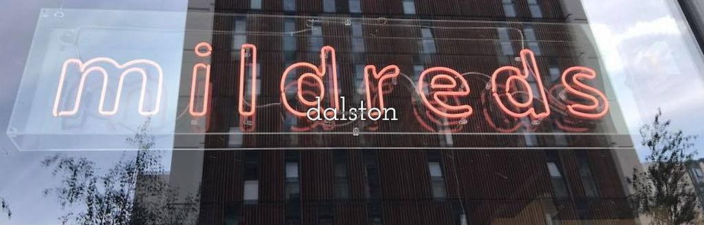 "Photo of Mildred's Dalston  by <a href=""/members/profile/jon%20active"">jon active</a> <br/>The windows of Dalston Square <br/> August 27, 2017  - <a href='/contact/abuse/image/99713/297909'>Report</a>"