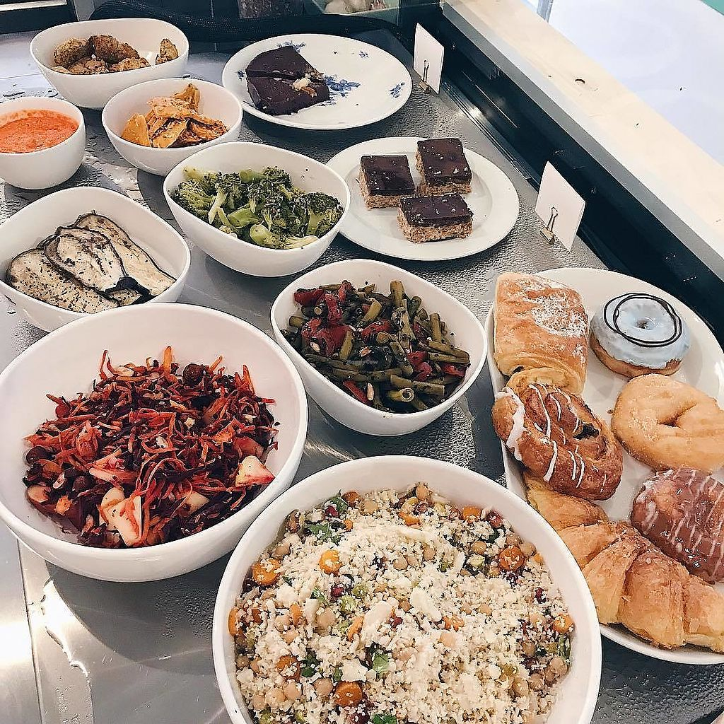 """Photo of Bar Botanica  by <a href=""""/members/profile/Zjef"""">Zjef</a> <br/>Vegan pastries and salads. They have an awesome salad dressing with peanut sauce btw! <br/> October 23, 2017  - <a href='/contact/abuse/image/99721/318064'>Report</a>"""