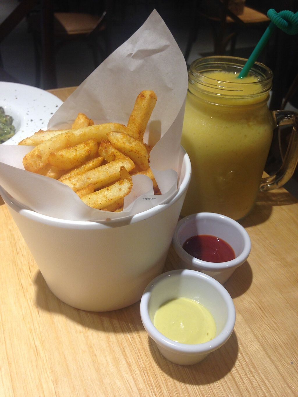 """Photo of Mani Mani  by <a href=""""/members/profile/kevin.nyk"""">kevin.nyk</a> <br/>Crispy Golden Fries and Apricot & Mango Smoothie <br/> September 12, 2017  - <a href='/contact/abuse/image/99771/303556'>Report</a>"""