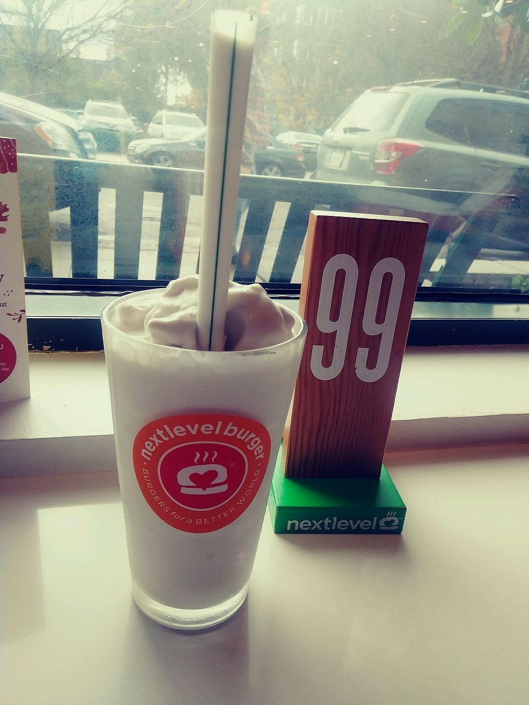 "Photo of Next Level Burger  by <a href=""/members/profile/MikeFarzamFani"">MikeFarzamFani</a> <br/>vagan Milkshake <br/> October 22, 2017  - <a href='/contact/abuse/image/99849/317751'>Report</a>"