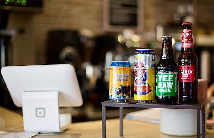 """Photo of EiO & The HIVE  by <a href=""""/members/profile/happycowgirl"""">happycowgirl</a> <br/>Local craft beers at the counter  <br/> September 25, 2017  - <a href='/contact/abuse/image/99856/308534'>Report</a>"""
