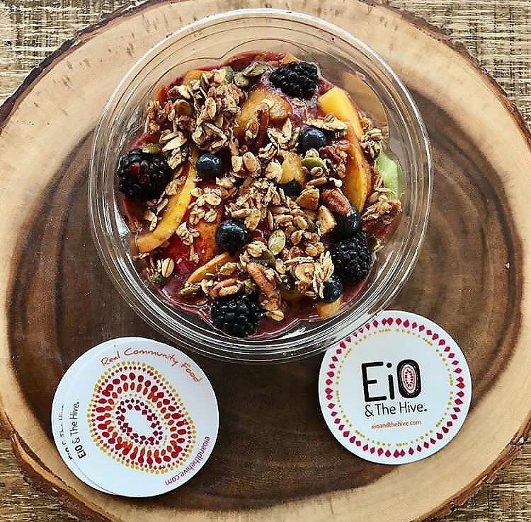 """Photo of EiO & The HIVE  by <a href=""""/members/profile/happycowgirl"""">happycowgirl</a> <br/>Acai bowls (served in morning only) <br/> September 25, 2017  - <a href='/contact/abuse/image/99856/308536'>Report</a>"""