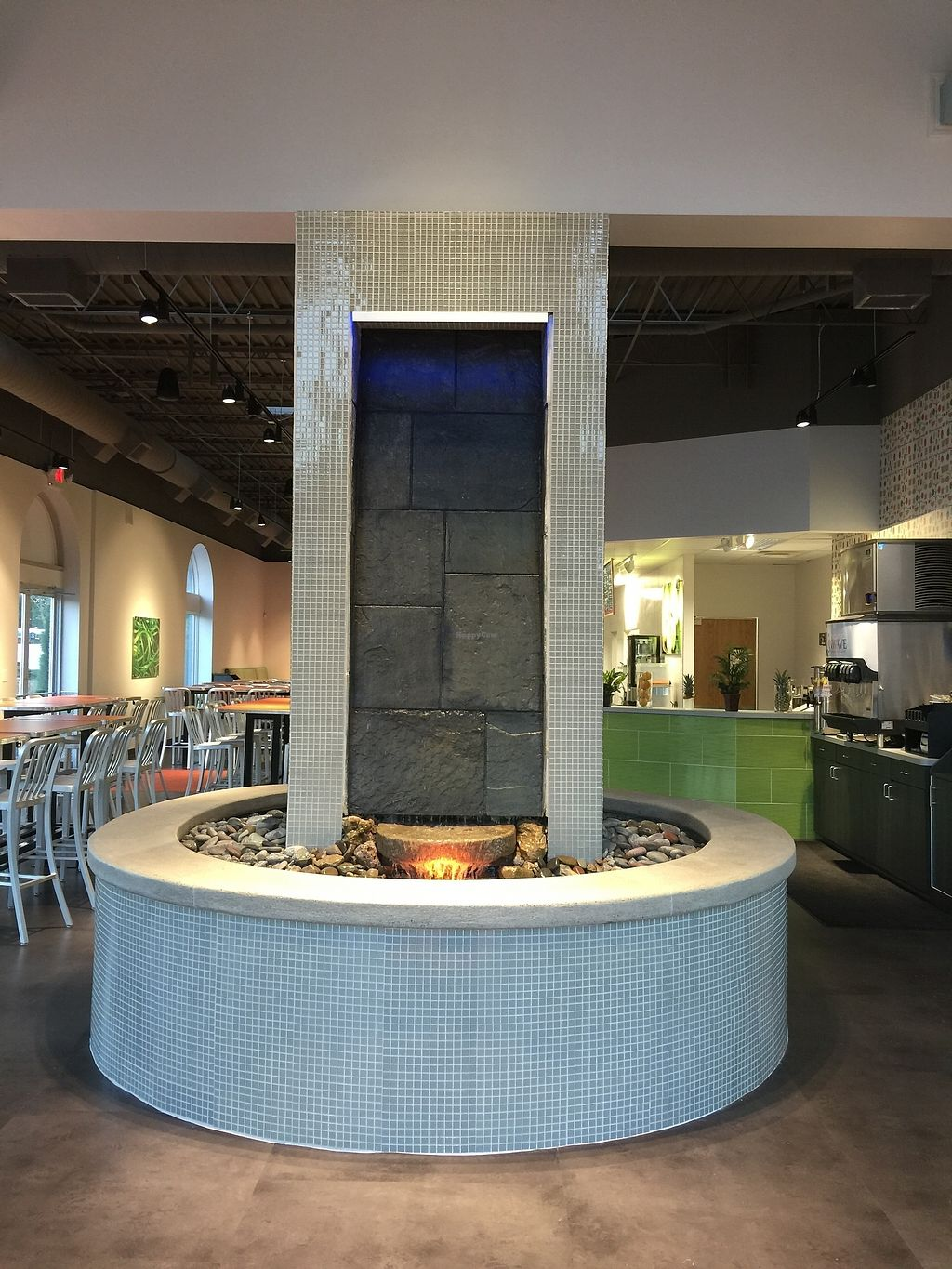"""Photo of InWave Restaurant & Juice Bar  by <a href=""""/members/profile/PeaceToAllBeings"""">PeaceToAllBeings</a> <br/>A water wall provides the sound of falling water <br/> October 15, 2017  - <a href='/contact/abuse/image/99857/315554'>Report</a>"""