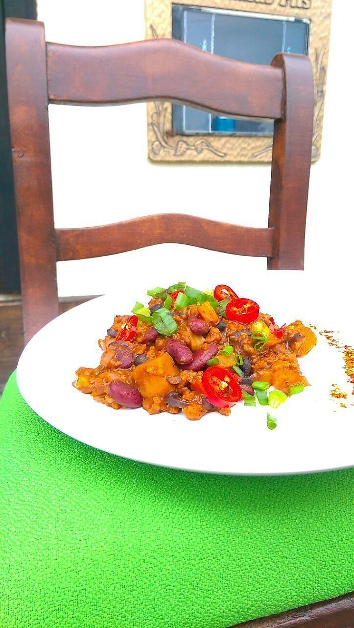 """Photo of Herbstapfel  by <a href=""""/members/profile/Herbstapfel"""">Herbstapfel</a> <br/>our vegan chili. But not always available ;)  <br/> September 15, 2017  - <a href='/contact/abuse/image/99895/304848'>Report</a>"""