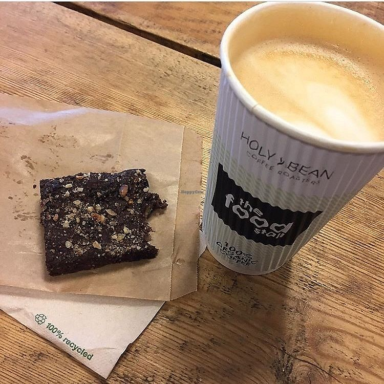 "Photo of The Food Stall - Train Station  by <a href=""/members/profile/InaHeinemeier"">InaHeinemeier</a> <br/>Oatmilk latte and raw brownie!  <br/> September 3, 2017  - <a href='/contact/abuse/image/99913/300344'>Report</a>"