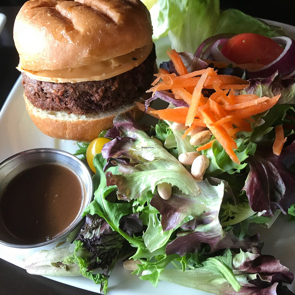 "Photo of Harvest Seasonal Grill & Wine Bar  by <a href=""/members/profile/Dveg"">Dveg</a> <br/>Hubby wasn't a fan of the Impossible Burger, but had to try it! <br/> April 2, 2018  - <a href='/contact/abuse/image/99929/379985'>Report</a>"