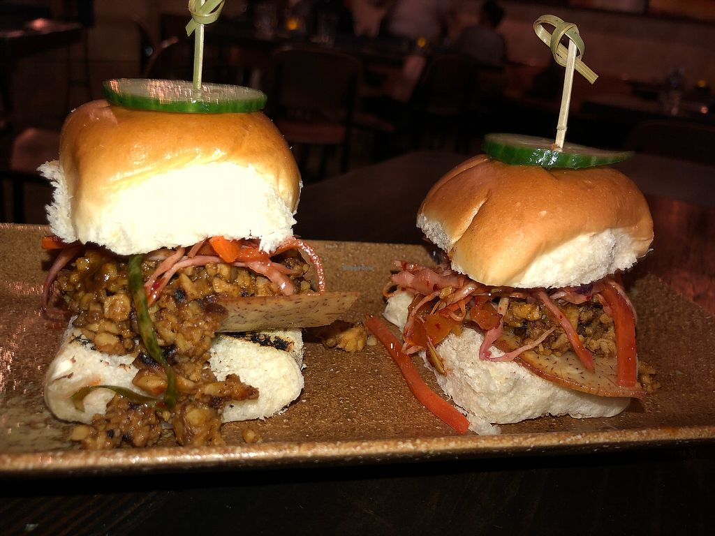 """Photo of Soul Tavern  by <a href=""""/members/profile/dittev"""">dittev</a> <br/>Tempeh Banh-Mi bbq sliders  <br/> November 2, 2017  - <a href='/contact/abuse/image/99930/321008'>Report</a>"""