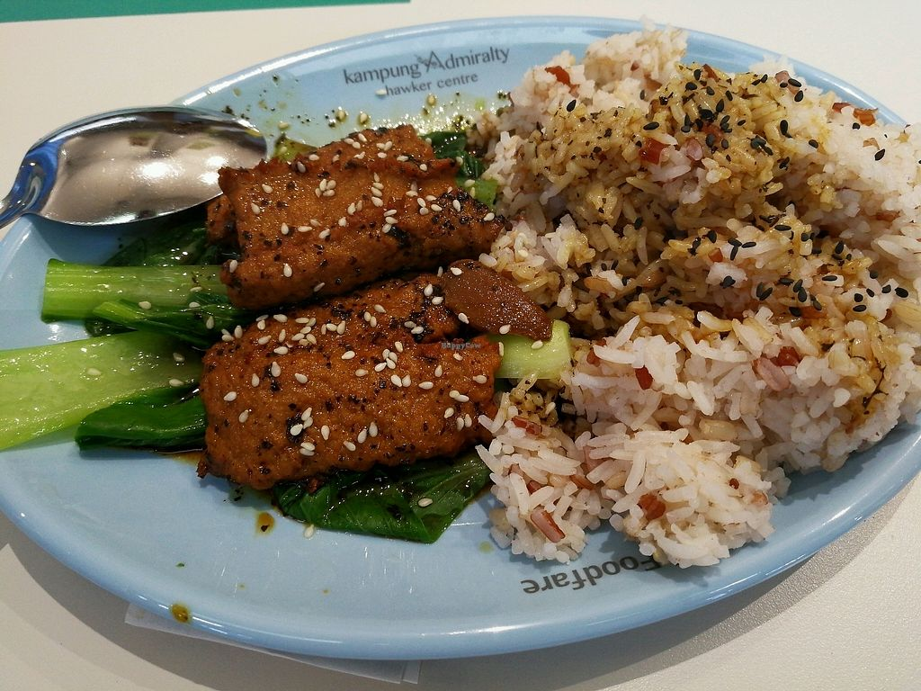 """Photo of Vairy Vegetarian  by <a href=""""/members/profile/Jiefu"""">Jiefu</a> <br/>soya Rice set  <br/> September 12, 2017  - <a href='/contact/abuse/image/99932/303611'>Report</a>"""