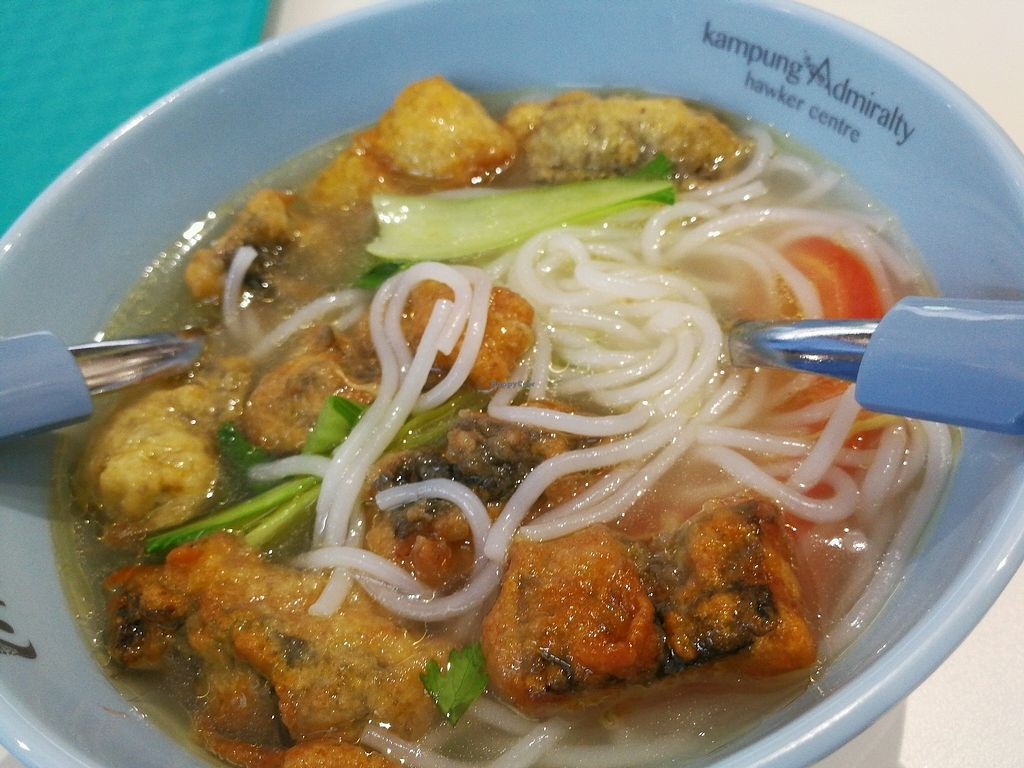 """Photo of Vairy Vegetarian  by <a href=""""/members/profile/Jiefu"""">Jiefu</a> <br/>vegan fish slice noodles <br/> September 12, 2017  - <a href='/contact/abuse/image/99932/303613'>Report</a>"""
