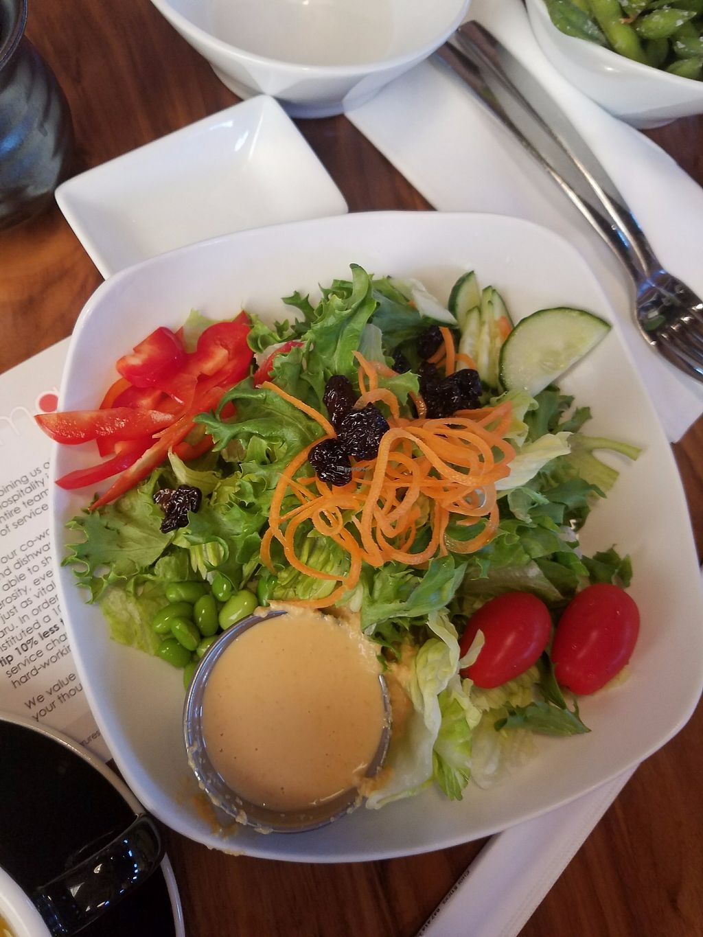 """Photo of Maru Sushi & Grill  by <a href=""""/members/profile/MerryRose"""">MerryRose</a> <br/>House salad with maru dressing and local veggies <br/> August 30, 2017  - <a href='/contact/abuse/image/99941/299155'>Report</a>"""